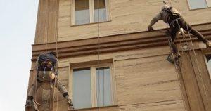 کنده شدن سنگ نمای ساختمان